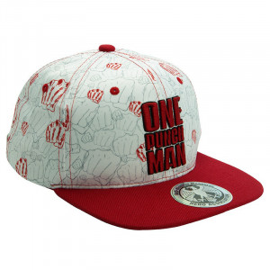 One Punch Man - Punches beige & red - Snapback cAP