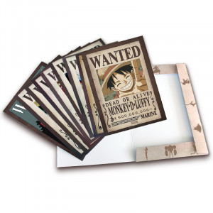 One Piece - Luffy's Crew Wanted Posters - Portfolio with 9 Posters 21x29,7