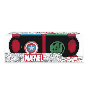Marvel Captain America and Hulk 110ml Mug Set