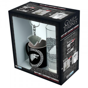 Game of Thrones - 290ml Glass, Keychain, Mini-Mug - Gift Box