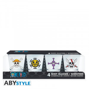 One Piece Crew Logo Shot Glasses
