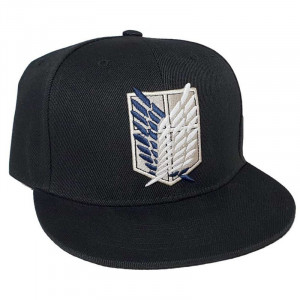Attack on Titan Logo Noir cap