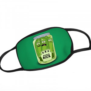 Rick and Morty Pickle Rick Glas Manga Face Mask