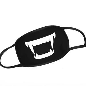 Black Vampire Manga Face Mask