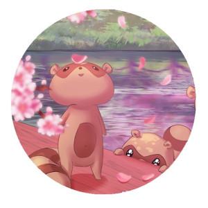 Tanuki spring button