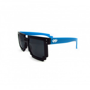 8 - BIT black/blue Pixel Sunglasses