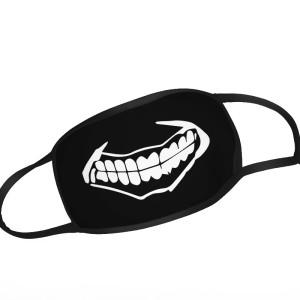 Black Mask teeth closed Face Mask