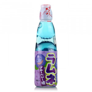 Japanese lemonade Ramune 200ml bottle blueberry flavor
