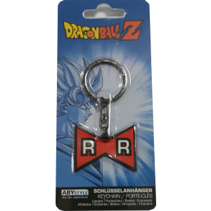 "Dragon Ball Z ""Red Ribbon"" logo rubber keychain"