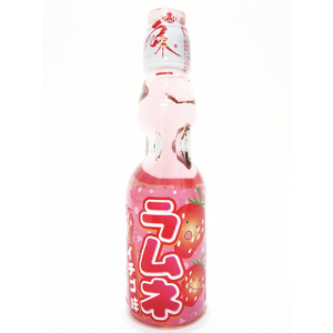 Japanese lemonade Ramune 200ml bottle strawberry flavor