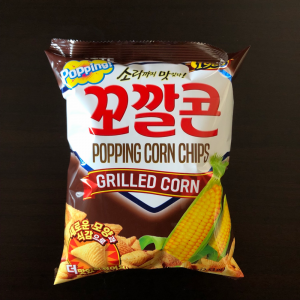 Lotte Popping Corn Chips - Grilled Corn Snack