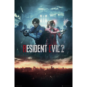 Resident Evil 2 City Key Art Poster