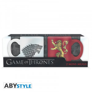 Game of Thrones Stark & Lannister 110ml Mug Set