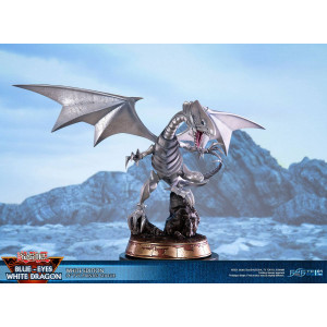 PREORDER ♦ Yu-Gi-Oh! - Blue-Eyes White Dragon - White Edition - 35 cm PVC Statue