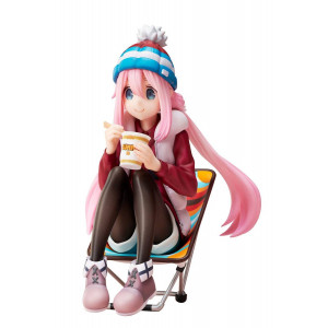 COLLECTOR ♦ Laid-Back Camp Premium Noodle Stopper PVC Statue 1/8 Nadeshiko Kagamihara 13 cm figure