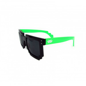 8 - BIT black/green Pixel Sunglasses