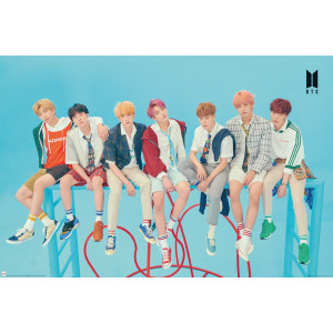 BTS Group Blue Poster