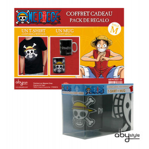 One Piece Gift box with cup and t-shirt in size L