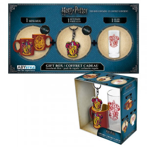 Harry Potter Gryffindor Gift box with glass, cup and key chain