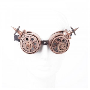 Steampunk Glasses Bronze with Spikes