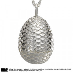 Game of Thrones Dragon Egg (Sterling Silver) Necklace & Pendant