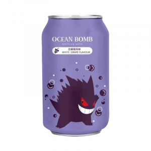 Ocean Bomb Relaxo Pokemon White Grape 330ml Dose