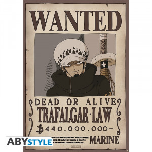 One Piece Trafalgar Law Wanted 91,5x61cm Poster