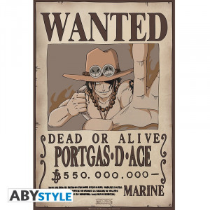One Piece - Portgas D. Ace - Wanted Poster