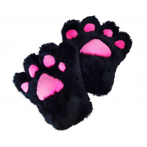 Catgirl cat paw  pair (2 cosplay gloves black)