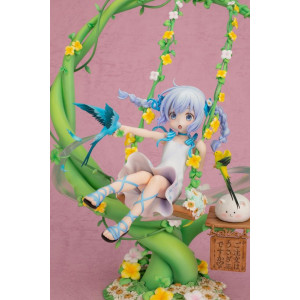 COLLECTOR ♦ Is the Order a Rabbit? PVC Statue 1/7 Chino Kafuu Flower Swing 29 cm figure