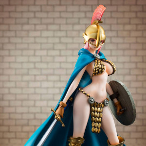 COLLECTOR ♦ One Piece Excellent Model P.O.P Sailing Again PVC Statue 1/8 Gladiator Rebecca 22 cm figure