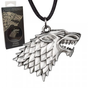 Game of Thrones Stark Sigil Costume pendant with chain
