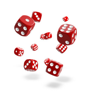 Oakie Doakie Dice D6 Dice 12 mm Solid - Red (36)