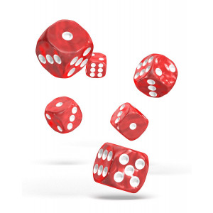 Oakie Doakie Dice D6 Dice 16 mm Marble - Red (12)