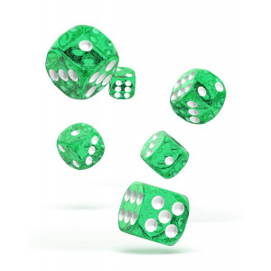 Oakie Doakie Dice D6 Dice 16 mm Speckled - Green (12)