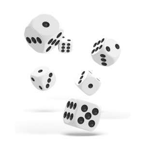 Oakie Doakie Dice D6 Dice 16 mm Solid - White (12