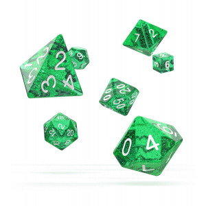 Oakie Doakie Dice Würfel RPG-Set Speckled - Grün (7)
