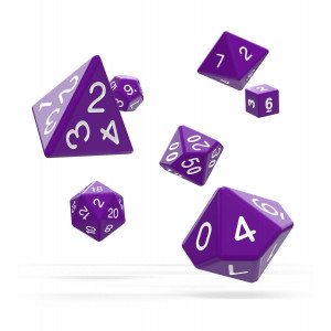 Oakie Doakie Dice RPG Set Solid - Purple (7)