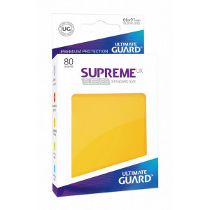 Ultimate Guard Supreme UX Sleeves Standard Size Yellow (80)