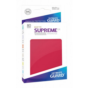 Ultimate Guard Supreme UX Sleeves Standard Size Matte Red (80)