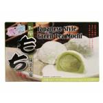 Mochi - sticky rice cake - green tea in a gift box 210g - Yuki & Love
